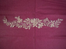 A Baby Pink bridal bridesmaid lace Applique/motif on organza.Sold by piece(s)