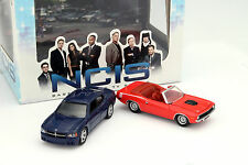 Dodge Charger und Plymouth Cuda 2-Car Set NCIS blau / rot 1:64 Greenlight