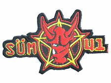 SUM 41 Punk Rock Embroidered Iron On Sew On Shirt Jacket Bag Applique Patch