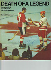 Team Canada Hockey Vs USSR 1972 Book Autographed Frank Mahovlich Bill Harris