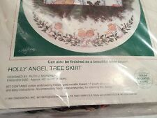 Christmas Tree Skirt Sunset Counted Cross Stitch Kit Holly Angel Tree Skirt
