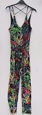 topshop size 8 bnwt black red colourful bright jumpsuit