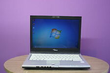 "Laptop Fujitsu S6410 13.3"" Core 2 Duo 2GHZ 2GB 80GB Cámara web Windows 7 Genuine"