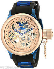 Invicta 17270 Russian Diver Rose Gold Dial Rubber Strap Men's Watch
