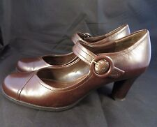 Franco Sarto *Nelson* Mary Janes Heels 7.5 M Brown Leather Beauty No Wear
