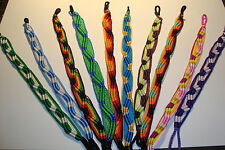 Wide Colourful Peruvian Handmade, Friendship Bracelets, lot of 10~F~uk seller~