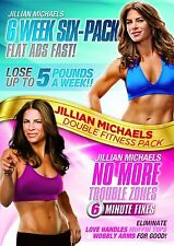 Jillian Michaels Six Week Six-Pack / No More Trouble Zones 2er [DVD] NEU FITNESS