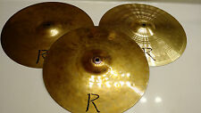 """Realit-E Electronic Drum Cymbal Trigger 14"""" Hi Hat Crash Set of 3 Heavy / Thick"""
