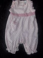 Next Baby Up to 1 Month Pink Star Detail Romper Suit / Playsuit