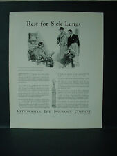 1934 Metropolitan Life Insurance 'Rest for Sick Lungs' Vintage Print Ad 11622