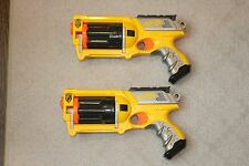 Lot of 2 Nerf N Strike Maverick Rev 6 Quick Shot Firing Rotating Barrel Dart Gun