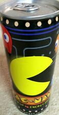 2008 PAC-MAN Power Up Energy Drink FULL Mint Cond RARE 8.4 Oz Bandai Woburn MA
