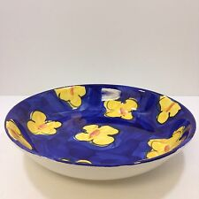 "Pier 1 Imports Hand Painted Made In Italy 14"" Serving/Salad Bowl"