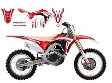 BLACKBIRD HONDA CRF 450 2017 KIT GRAFICHE ADESIVI GRAPHICS TEAM HRC ROSSE BLU