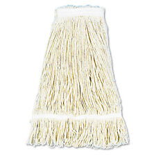 """Pro Loop Web/tailband Wet Mop Head, Cotton, 24oz, White"""