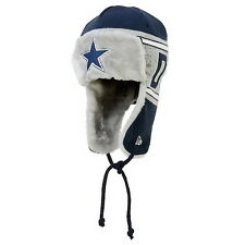 DALLAS COWBOYS NFL WORD TRAP CAP SKI Knit Beanie Hat  Authentic W/ DRAWSTRINGS