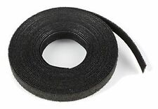 Cable Ties Velcro Double-Sided Strip 9mm Wide Hook & Loop Reel Black 25m