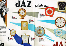 PUBLICITE ADVERTISING 034   1963   JAZ   réveils pendules  ( 2 pages)