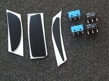 Original New Logitech G9 G9x Teflon mouse Feet & 2 Omron & Huano Micro switches
