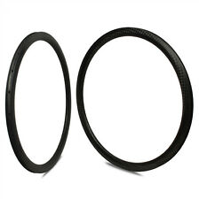1 pair New 12K Weave 50mm Carbon Rim Clincher 700C Road Bicycle Rim 25mm width