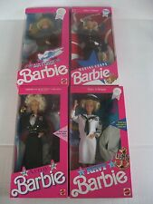 Lot Mattel Barbie MARINE-NAVY-AIR FORCE-ARMY ARMED FORCES 1990's NRFB
