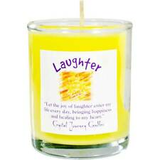 CANDLE - LAUGHTER Herbal Magic Soy Votive in Glass Holder - Crystal Journey