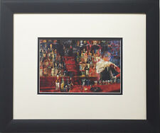 "LeRoy Neiman ""The Mixologist II (Irish-American Bar)"" CUSTOM FRAMED Print 1978"