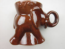 1974 BROWN Frankoma GOP Elephant Coffee  Mug