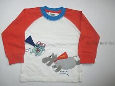 Gymboree Super Dude Flying Hero Critters LS Tee Shirt Boys 18-24 months NEW NWT