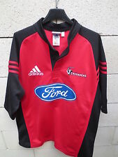 VINTAGE Maillot rugby CRUSADERS ADIDAS shirt rouge Super 12 M