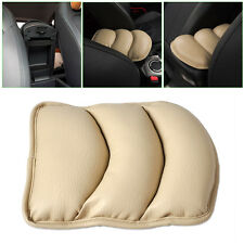 Beige CAR ARMREST ARM REST CENTER CONSOLE TOP MAT LINER COVER CUSHION SUPPORT