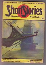 Short Stories Feb 25 1947 Pulp Hugh B. Cave Raymond S. Spears Wilbur S. Peacock