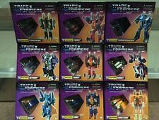 KT Transformers G1 Starscream Thrust Ramjet Thundercracker Skywarp Set of 9 New