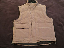 Green Fleece Lined Puffer Causal Vest Mens size L Large  Excellent Condition