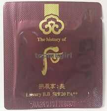 The History of WHOO Luxury BB SPF20 PA++ 30pcs New Product Belmish Blam 2019
