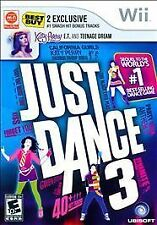 Just Dance 3 Wii Game, Cover, and Instructions