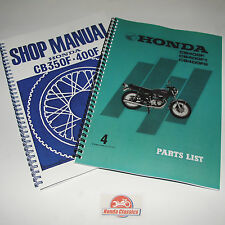 Honda Workshop Manual + Parts List Books CB400F 400/4 1970s Reproduction. HWM101