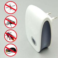 EU Plug Ultrasonic Electronic Mouse Cockroach Pest Bug Mosquito Repeller Reject