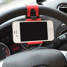 Car Steering Wheel Mobile Phone Holder Mount Stand For iPhone 6 6S 6Plus HTC LG