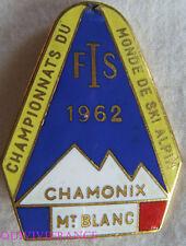 SK1398 - INSIGNE BADGE CHAMPIONNAT DU MONDE SKI ALPIN CHAMINOX 1962