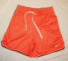 Men's Small Nike Dri-Fit orange lightweight poly athletic shorts  EUC!