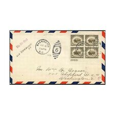 1931 US FDC SC# 700 EF D.C. Pl. Block To Seaver, via Richmond, B/S CV.$900.