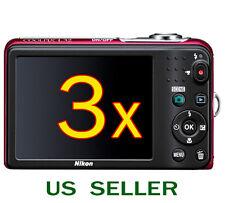 3x Nikon COOLPIX L32 L30 Digital Camera Clear LCD Screen Protector Guard Shield