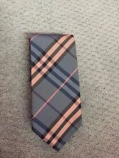 Burberry London Blue Check & Plaid Silk Men Neck Tie $249 NWT New !!! 50% OFF
