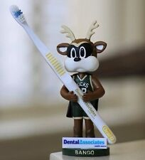 Milwaukee BUCKS BREWERS Bango Mascot Bobblehead Toothbrush Holder SGA 3/12/16