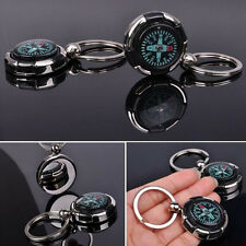 1pcs MINI Sports Outdoor Camping Hiking Metal Precise Keychain Compass Ring FG
