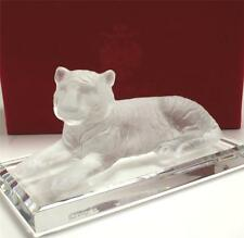 AUTHENTIC FABERGE PATE DE VERRE CRYSTAL TIGER FIGURINE LIMITED EDITION 95/800