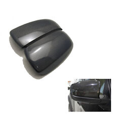2X Carbon Fiber Rear Door View Mirror Cover Caps For BMW X5 X6 E70 E71 2008-2012