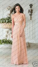 New Long Chiffon Formal Party Prom Ball Evening Bridesmaid Dress Stock Size 6-18