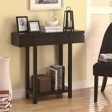 Modern Cappuccino Finish Entry Hall Console Table with Drawer by Coaster 950135